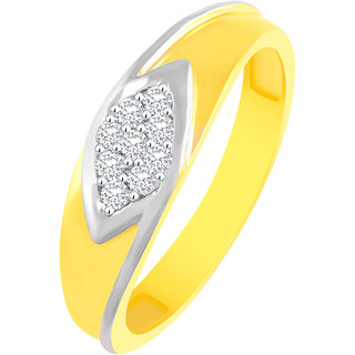 Sukai Jewels Royal Look Gold Plated Alloy & Barss Cubic Zirconia Finger Ring for Women & Girls [SFR486G]