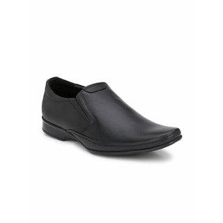 Banish Men's Black Genuine Leathe Slip On formal Shoes
