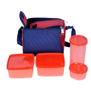 Top ware Lunch Box set of 4 with bag