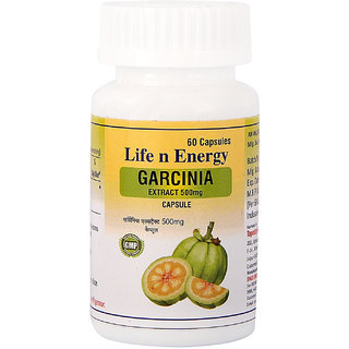 Life N Energy Pure Garcinia Extract 500 mg Reduces Depression, Helps Suppress Appetite, Fat Burner 60 capsules