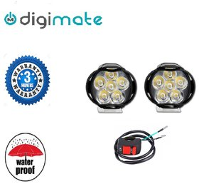 Digimate 6 LED Car-Bike Fog Light LED Lamp Pair With On-Off Switch.