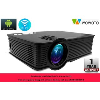 WOWOTO i9 LED HD Android WiFi Projector - HD 1920 X 1080 120 Display (1  Year Warranty)
