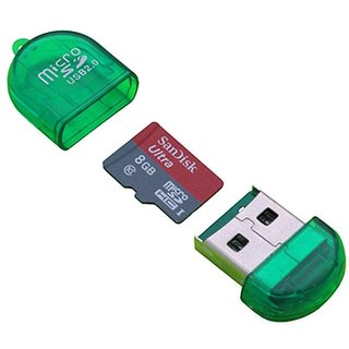 KSJ Micro SD USB Card Reader (Assorted Colors and Design)