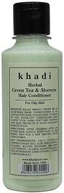 Khadi Herbal Green Tea  Aloevera Hair Conditioner - 210ml