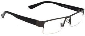 HRINKAR Unisex Grey Rectangular Medium Half Rim Reading Glasses