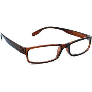 HRINKAR Unisex Brown Rectangular Medium Full Rim Reading Glasses