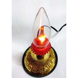 Emm Emm Finest Akhand Electric Pooja Jyoti Lamp/LightBulb/LED for Homes and Temples (No Ash, No Flames 100% Safe)