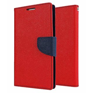 Wallet Flip Cover for  IPhone 7  ( RED )