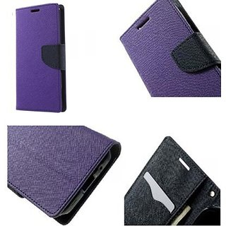 Mercury Goospery Fancy Diary Wallet Flip Cover Case for Samsung Galaxy J1  ( PURPLE )