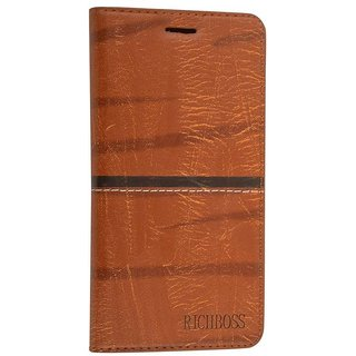 Flip Cover For OPPO A71 ( Brown )