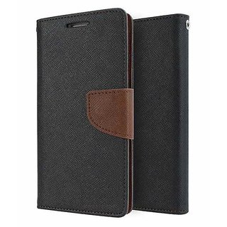 Wallet Flip Cover for Nokia 8 (5.3 inches) ( BROWN )
