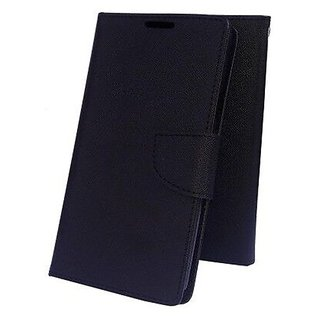 Mercury Goospery Fancy Diary Wallet Flip Cover Case for Lenovo A2010  ( BLACK )