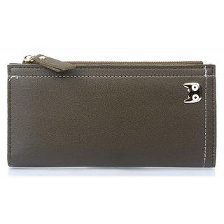 Mammon Women's PU Clutch Wallet (353-Green, Size-18x10x2CM)
