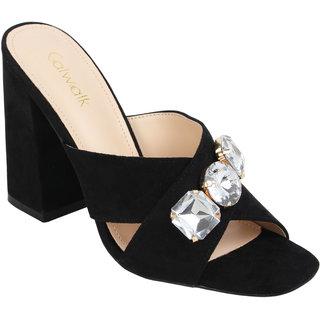 376217bf9 Buy Catwalk Women s Black Block Heels Online - Get 65% Off