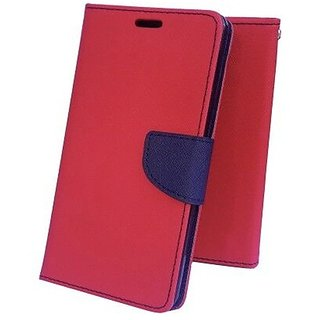 Wallet Flip Cover for Lenovo A6600  ( RED )