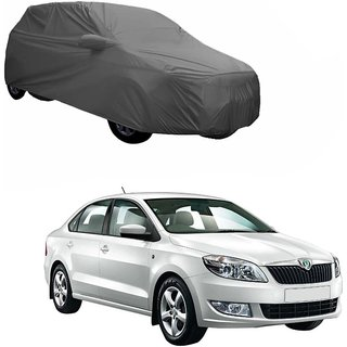 Gromaa Gray  Water Resistant Car Body Cover For Skoda Rapid