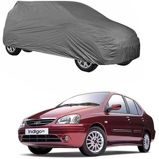 Gromaa Gray  Water Resistant Car Body Cover For Tata Indigo