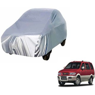 Gromaa Silver  Water Resistant Car Body Cover For Chevrolet Tavera