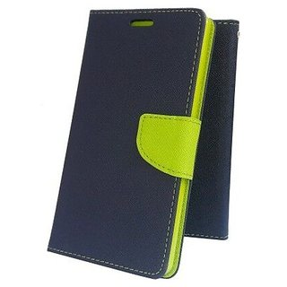 Wallet Flip Cover for Sony Xperia M2 Dual  ( BLUE )
