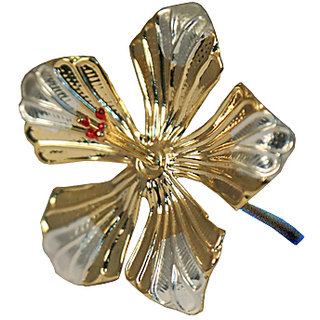 Silverz Silver Flower With Gold Finish