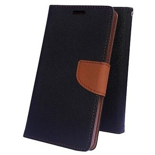 Wallet Flip Cover for INFOCUS M350   ( BROWN )