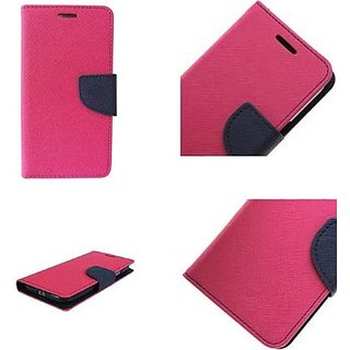 Wallet Flip Cover for Samsung Galaxy E5  ( PINK )