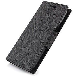 Stylish Luxury Mercury Magnetic Lock Diary Wallet Style Flip Cover Case for Motorola Moto G5S Plus ( BLACK )