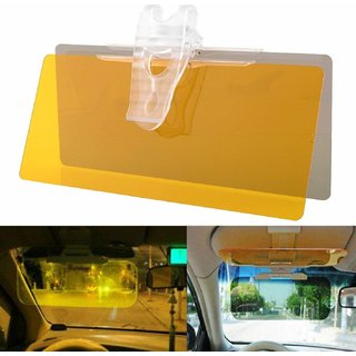 HIPO HD Vision Car Anti-Glare Day Night Vision Block View UV (Assorted) - (Pack of 1)