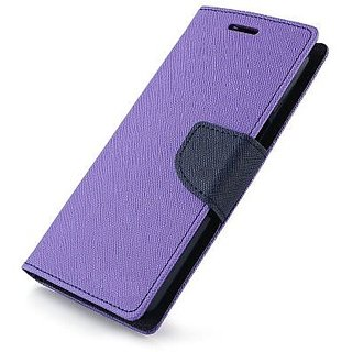 Stylish Luxury Mercury Magnetic Lock Diary Wallet Style Flip Cover Case for Samsung Galaxy C5  ( PURPLE )