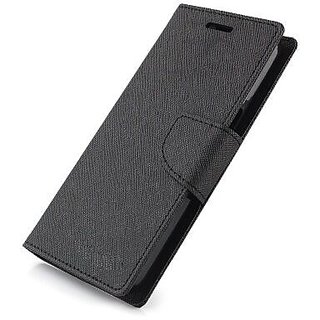 Stylish Luxury Mercury Magnetic Lock Diary Wallet Style Flip Cover Case for Samsung Galaxy C7  ( BLACK )