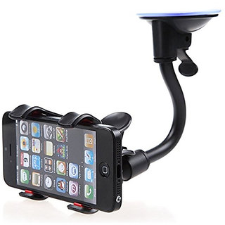 SEGGO Car Mobile Holder Soft Tube Arm Stand with 360 Degree Rotation for Car Windshield Glass.