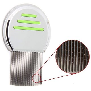 QD NEW Green Stainless steel  Lice Comb ,Very effective for Head Lice and Nit Remover Lice remover tool