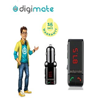 Digimate Car Bluetooth Device with 3.5mm Connector  Audio Receiver  Car Charger  FM Player  FM Transmitter