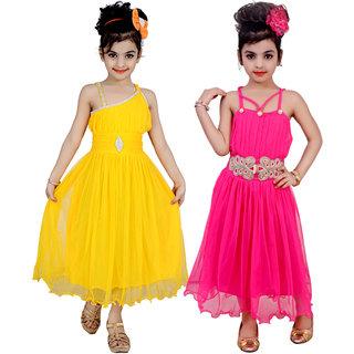 Kbkidswear Girl'S Party Wear Premium Net Sleeveless Stylish Dress