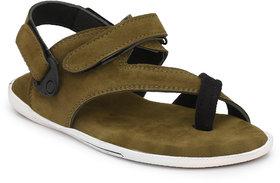 Lee Peeter Men's Green Valcro Sandals
