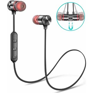 Orenics Wireless Sports Bluetooth Magnetic In the Ear Earphone for All Smartphone (With Mic)