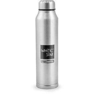 Whitestar Stainless Steel Sipper Fridge Water Bottle-1000 ML Silver