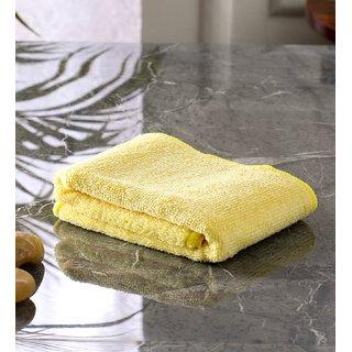 Bathe  Soak Microfiber Hand Towel, 40x40 cms, 250GSM (Yellow)