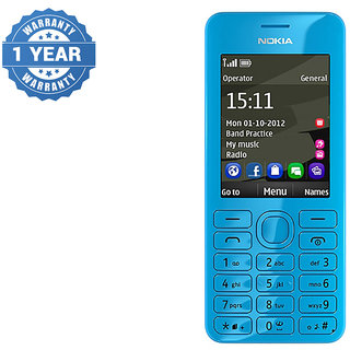 Refurbished Nokia 206 DUAL SIM Blue Color Mobile