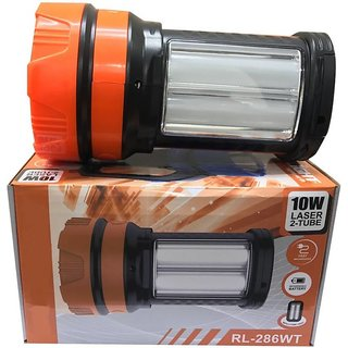Rock Light RL-286WT 10 Watt Long Beam Torch with Two Tube Emergency Light