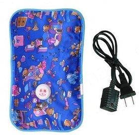 Electric Heat Bag Hot Gel Bottle Pouch Massager Rectangle Shaped (Assorted Design  Color)