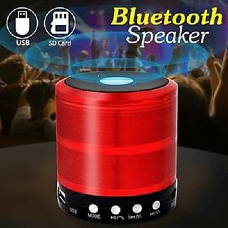 Pinnaclz Bluetooth Speaker Powerful Sound Metal Body Memory Card Slot (Multi Colour)