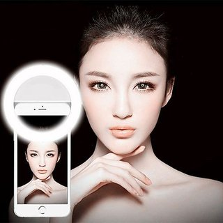 ShutterBugs LED Rechargable Selfie Ring Light Flash for Musically Smule on Mobile Tablet Laptop