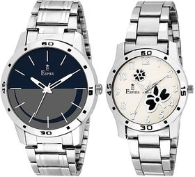 Espire New Look Combo Analog Couple Dial Wrist Watch