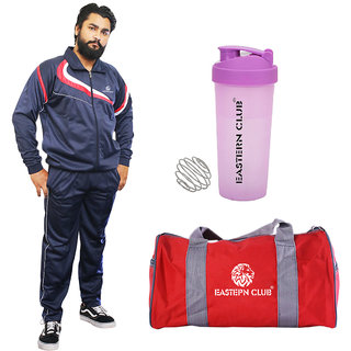 EASTERN CLUB GYM COMBO (TRACKSUIT SHAKER(SIPPER) AND GYM BAG)