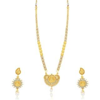 Sukkhi Creative Laxmi Gold Plated Long Haram Necklace Set For Women
