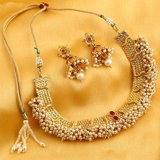 Sukkhi Ravishing Reversible Gold Plated Necklace Set For Women