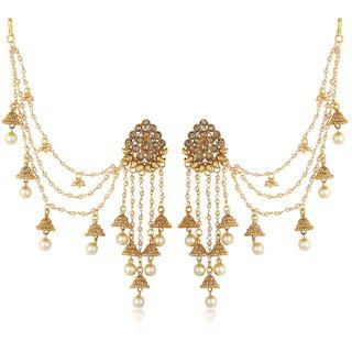 Sukkhi Bahubali Traditional Gold Plated Long Chain Jhumki Earrings For Women