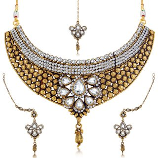 Sukkhi Astonish Oxidised Necklace Choker Set For Women