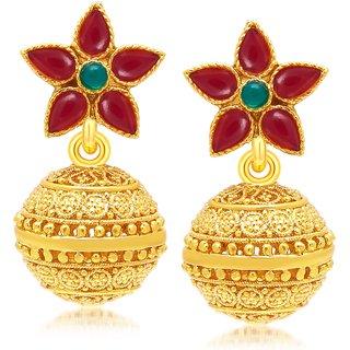 Sukkhi Glimmery Gold Plated Dangle Earring For Women